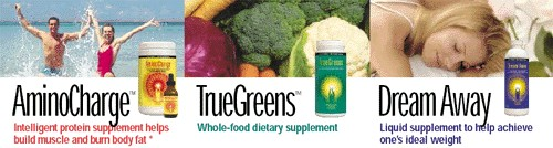 Life Force Amino Charge, TrueGreens, and Dream Away